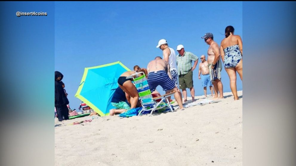 Buffering Replay Woman Impaled By Umbrella At Beach