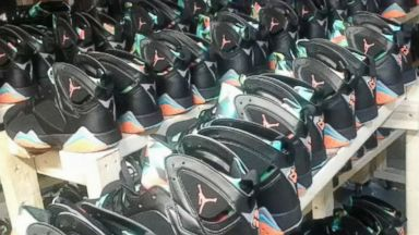 5 people charged with trafficking $73 million in counterfeit Nike Air Jordans: Police Video 180807 wabc fake air jordans hpMain 16x9 384