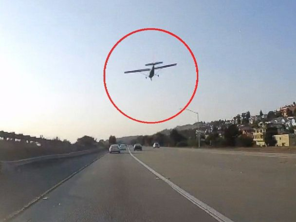 WATCH:  Pilot pulls off emergency landing on freeway