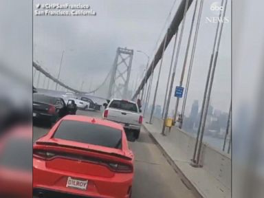 WATCH:  Drivers stop traffic on bridge in Northern California
