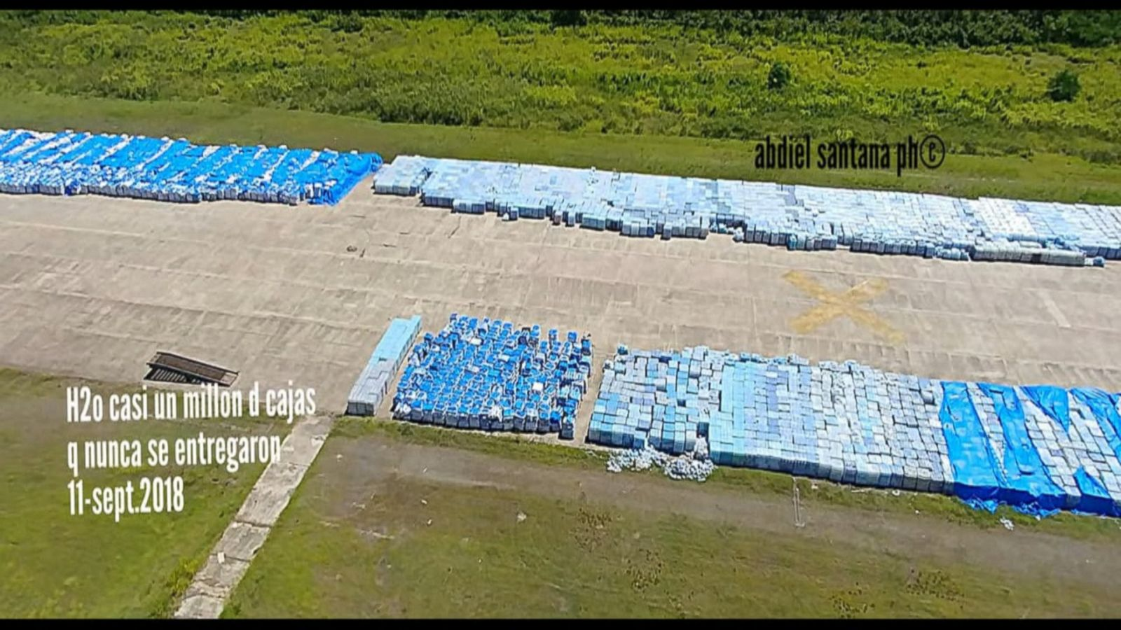 thousands of water bottles meant for puerto rico s hurricane maria