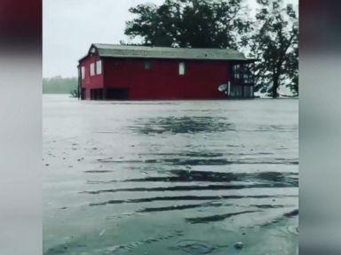 WATCH:  Hurricane Florence causes waist-deep flooding in North Carolina