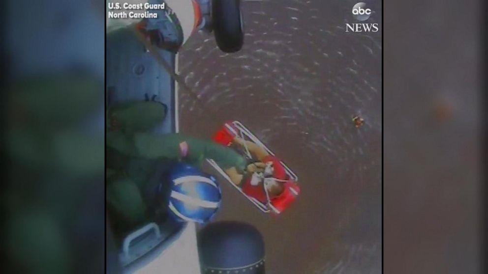 VIDEO: U.S. Coast Guard performs aerial rescues in North Carolina