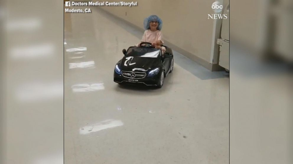 VIDEO: Young patients ride mini cars to surgery