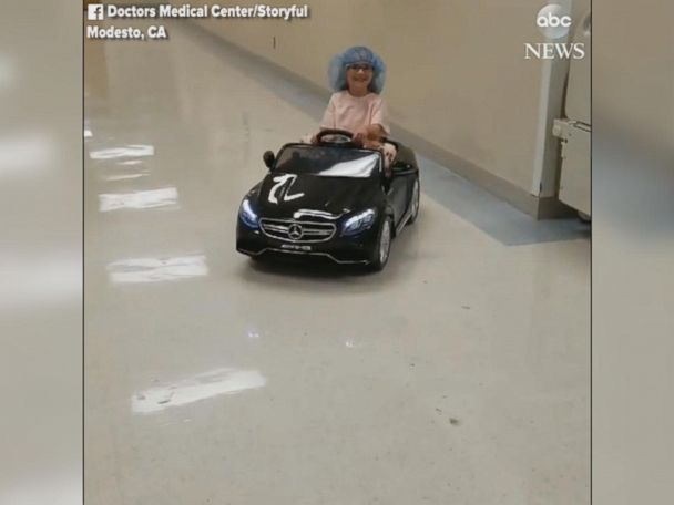 WATCH:  Young patients ride mini cars to surgery