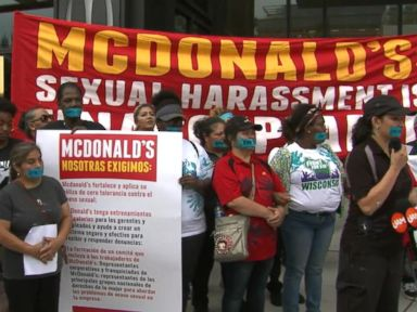 WATCH:  McDonald's workers protest sexual harassment