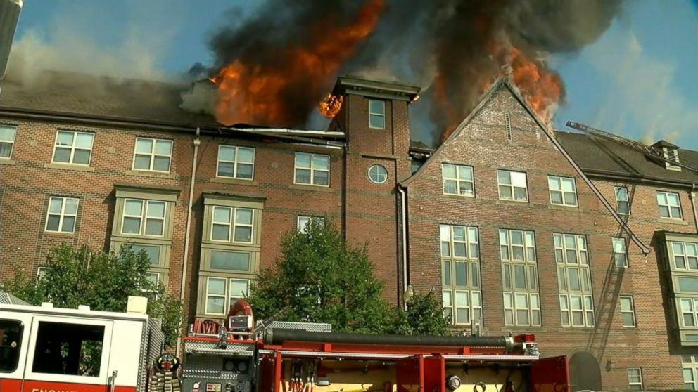 VIDEO: Dozens of senior citizens were saved from a raging apartment fire thanks to Washington D.C. firefighters and several U.S. Marines, eyewitness video showed.