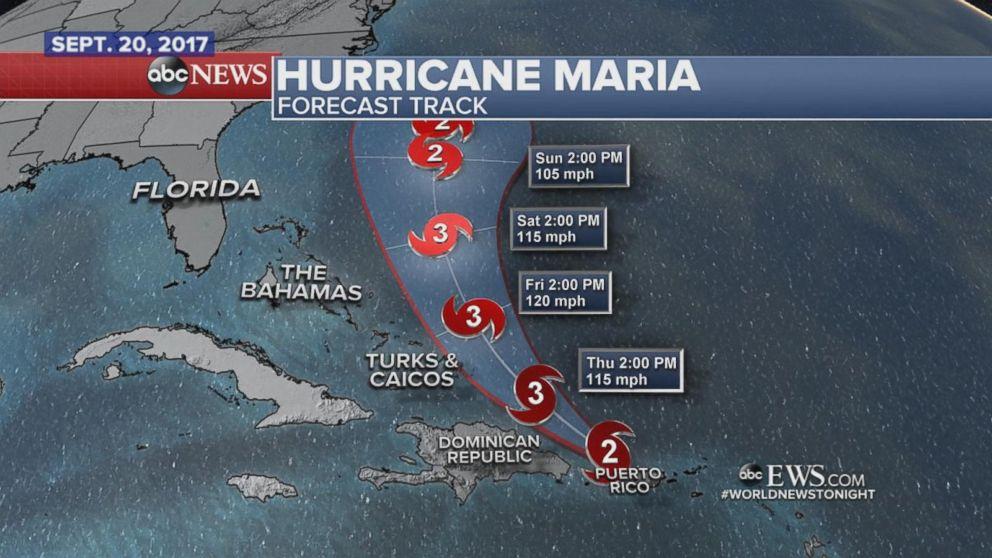 Hurricane Maria makes landfall in Puerto Rico.