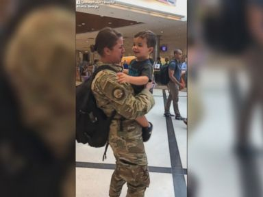 WATCH:  Military mom reunites with 2-year-old son