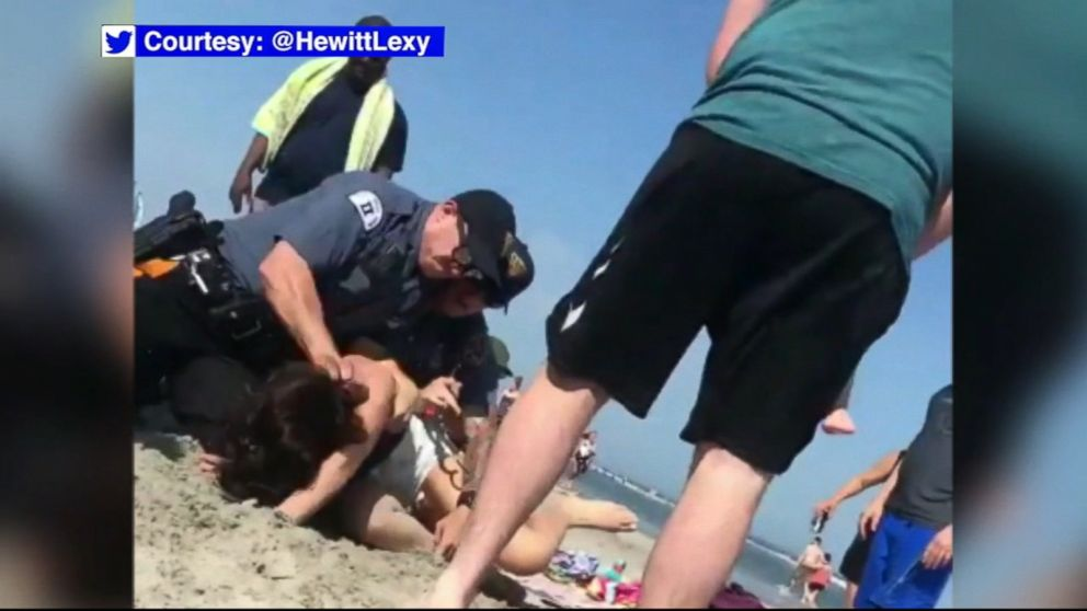 Woman indicted on assault charges months after beach arrest Video - ABC News