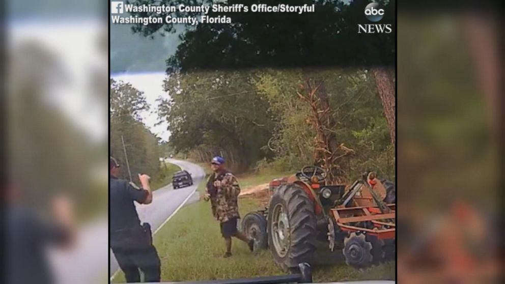 VIDEO: Police use taser on man who stole tractor