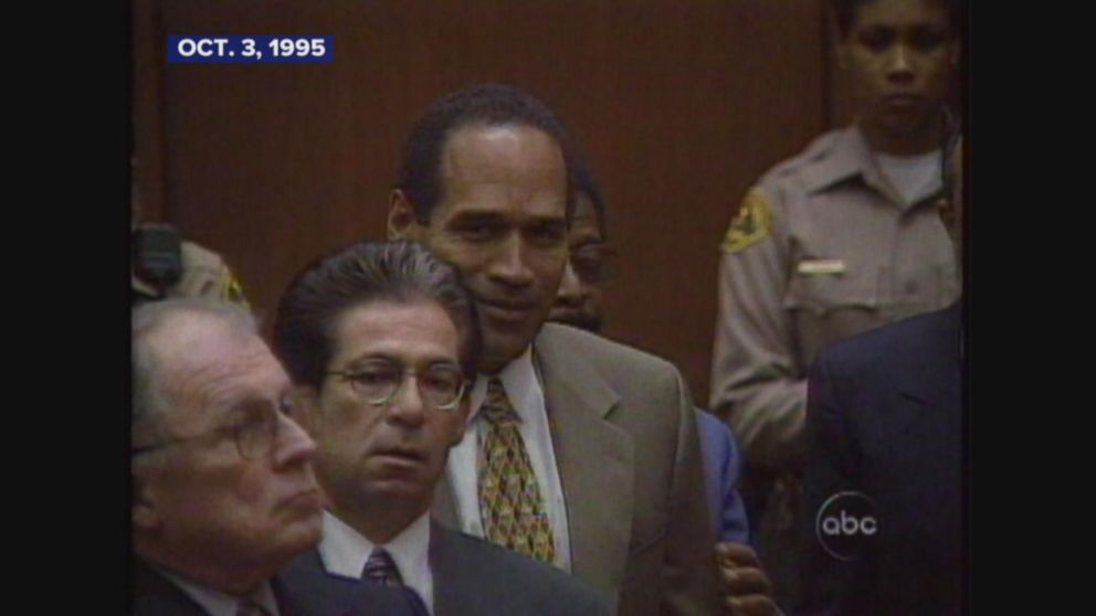 Jury finds OJ Simpson not guilty in the murders of Nicole Simpson and Ron Goldman.