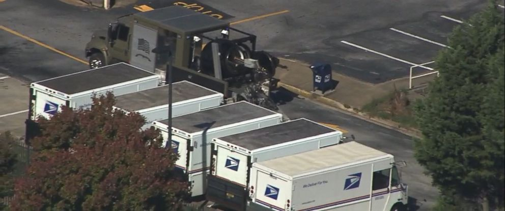 VIDEO: The FBI was notified of a suspicious package at an Atlanta postal facility on Monday.