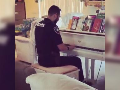 WATCH: Police officer plays piano during call to assist elderly couple