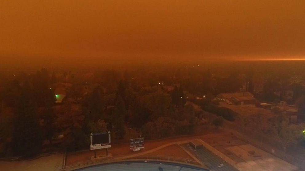 Ominous drone footage shows Camp Fire in Chico, California