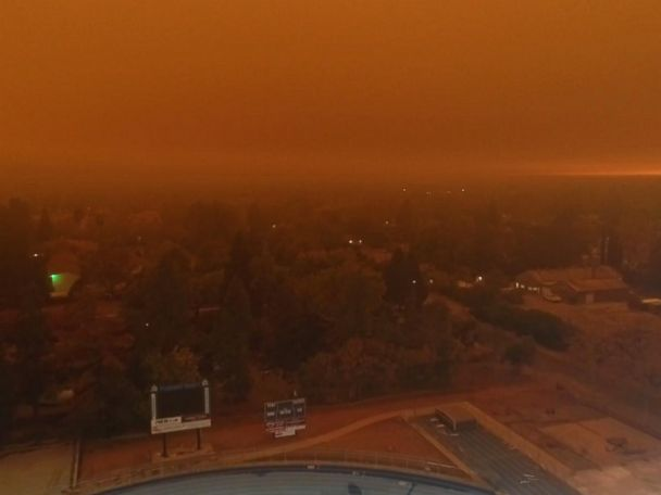 WATCH:  Ominous drone footage shows Camp Fire in Chico, California
