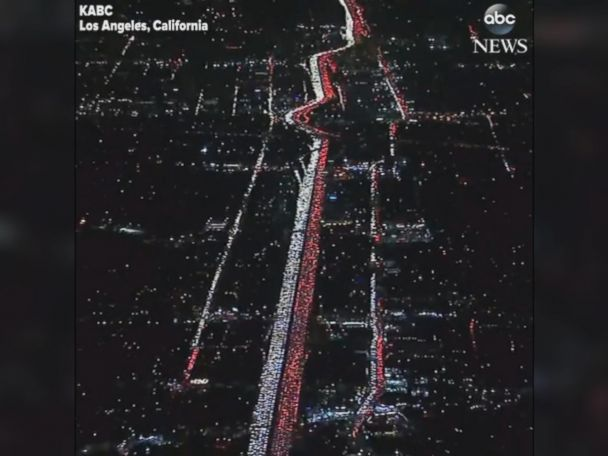 WATCH:  Heavy holiday traffic in Los Angeles