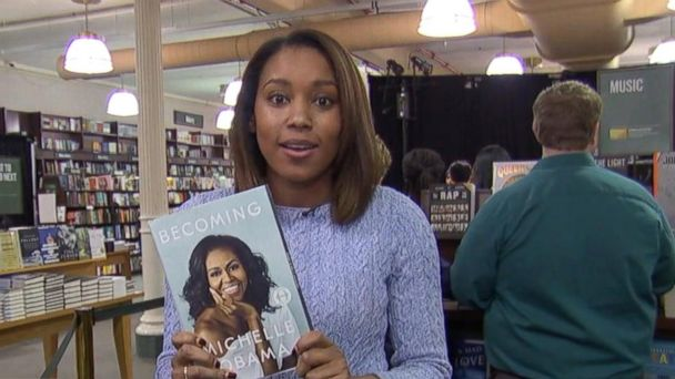 Michelle Obama visits Union Square Barnes & Noble in New York City