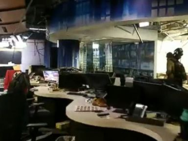 WATCH: Newsroom suffers major damage from Anchorage earthquake