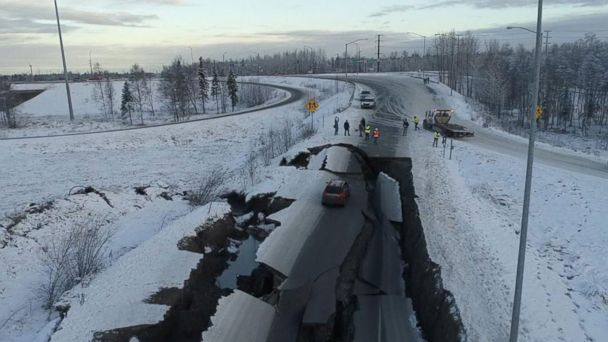 Recovery efforts underway after 7.0 quake causes major damage in Alaska
