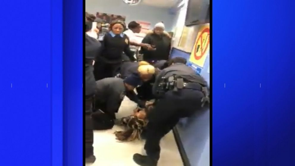 VIDEO: Jazmine Headley was arrested on charges of resisting arrest, committing an act in a manner injurious to a child, criminal trespass and obstruction of governmental administration, according to the NYPD.