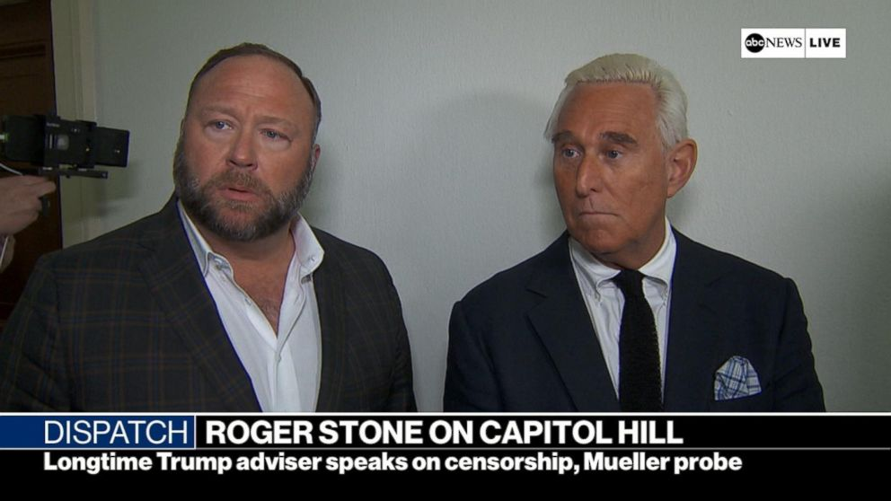 Roger Stone appears on Capitol Hill with Alex Jones