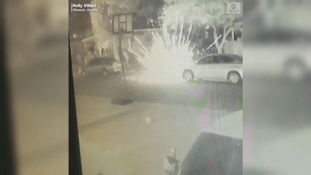 Christmas Eve fireworks damage homes in Phoenix neighborhood