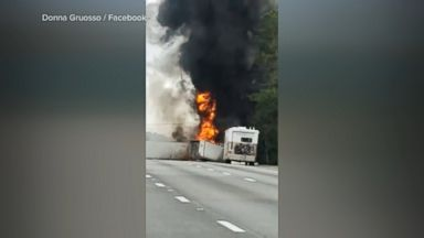 Family of 5 killed by wrong-way driver in fiery car crash in