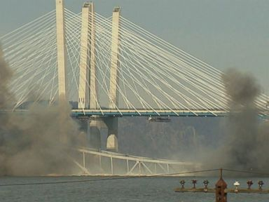 WATCH:  NY bridge taken down by controlled demolition