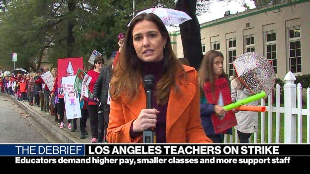 Marathon negotiations prompt hope of breakthrough in Los Angeles teachers' strike