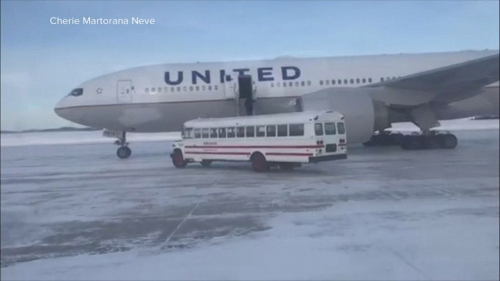 United Airlines passengers stranded at least 16 hours after