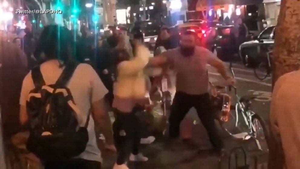 Police arrest suspect caught on video punching 2 women at