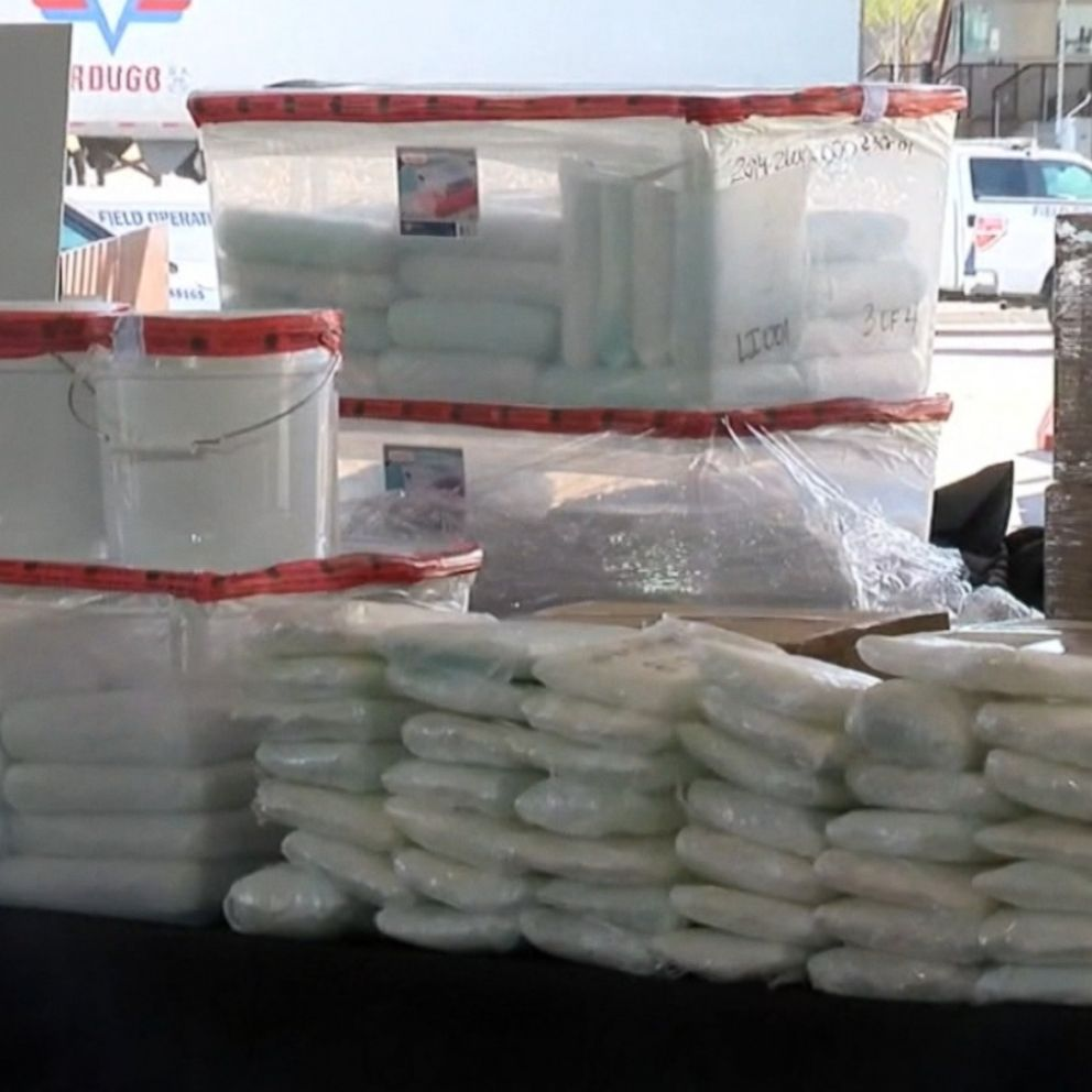 Authorities seize record-setting 1.7 tons of meth worth $1.29 ...
