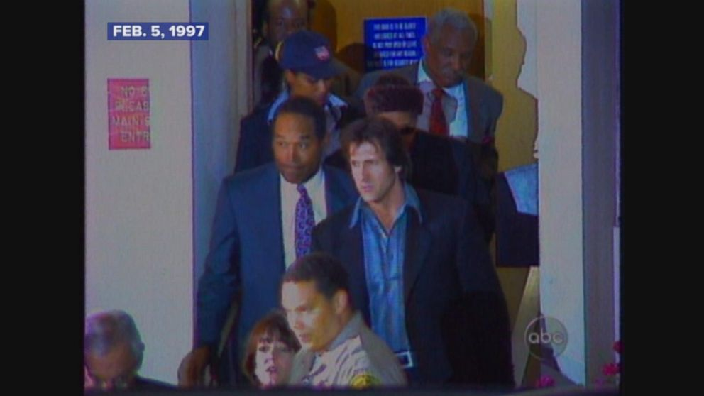 O.J. Simpson found liable in the deaths of Ron Goldman and Nicole Simpson.