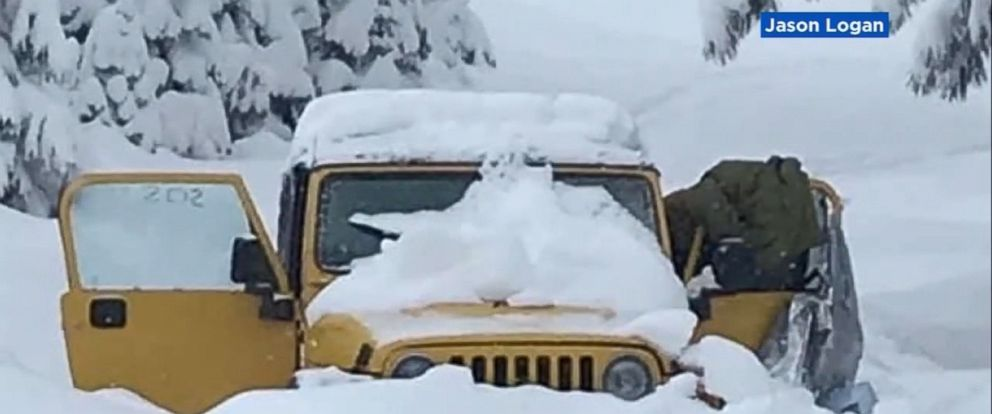VIDEO: After five days of drinking melted snow, bundled up in a Jeep buried in feet of snow, Maia Herman-Kitami and Carlos Hernandez couldnt have been happier to see a group of strangers on snowmobiles.