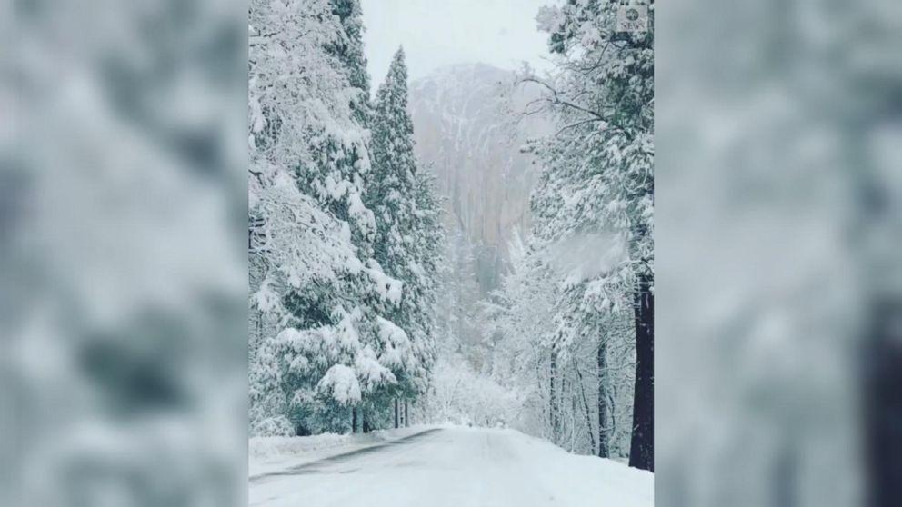 VIDEO: Winter wonderland at Yosemite National Park