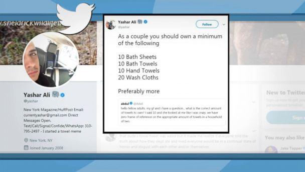 Twitter's mindboggling debate involves bath towels