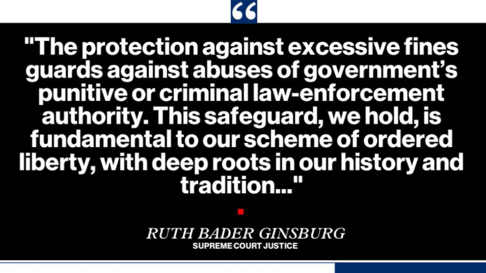 0c70d32be7b Supreme Court unanimously rules to limit states  ability to seize private  property involved in a crime - ABC News