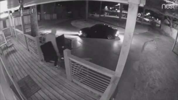 Surveillance video catches thieves stealing TVs from Airbnb rental
