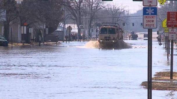 Historic flooding devastates areas in the Plains and Midwest