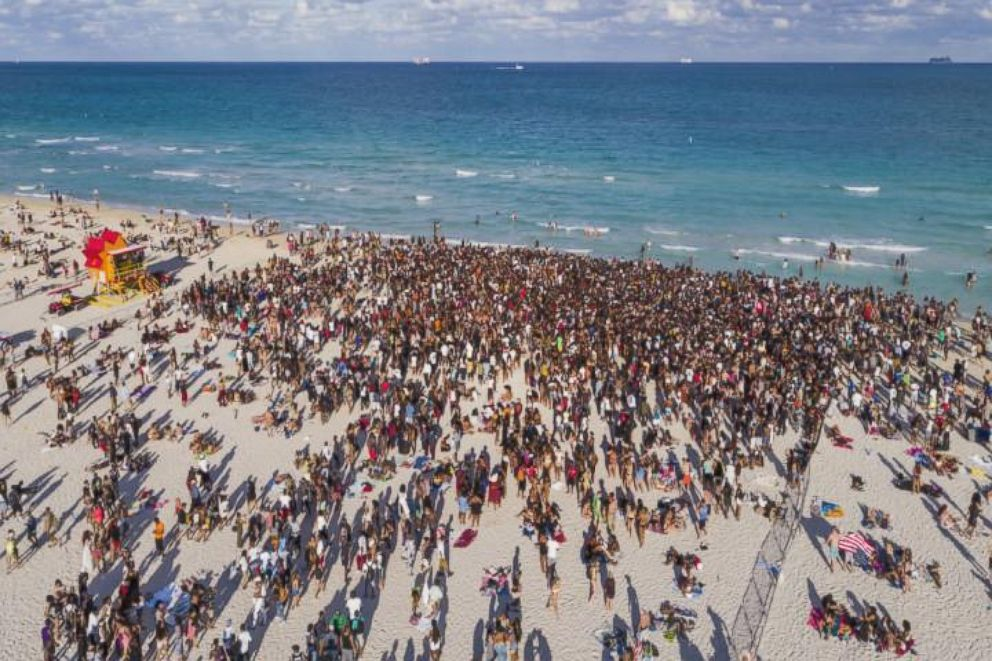 Last year, hundreds of people gathered in Miami Beach in celebration of spring break.
