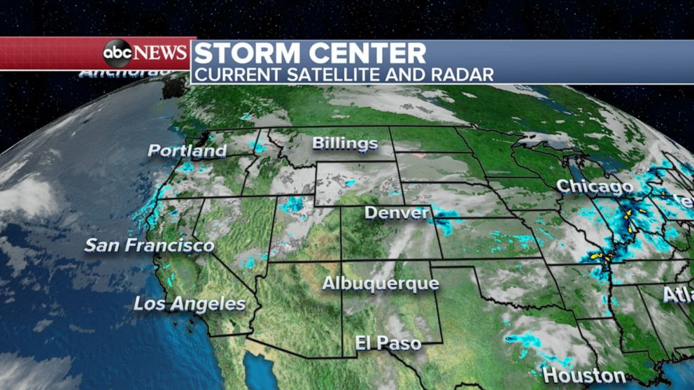 Heavy Rain Severe Storms To Hit Central Us Today Abc News - Us-weather-today-map