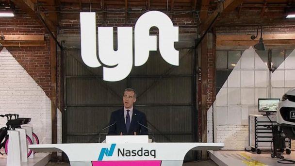 Shares of ride-hailing platform Lyft debut