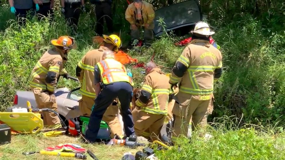 Woman trapped in crashed car found alive after 5 days: 'I just wanted to hear my mom's voice'