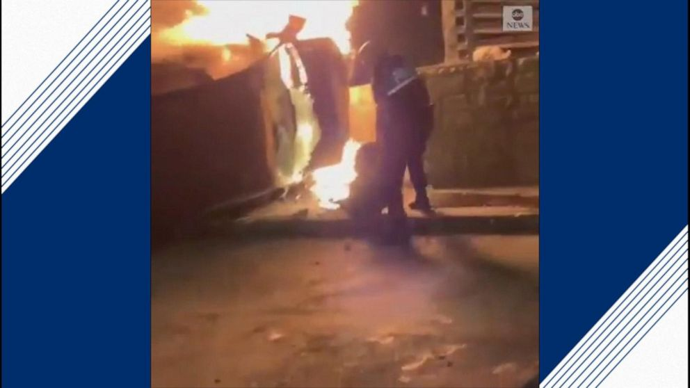 Off-duty officer pulls driver from burning vehicle in San Antonio