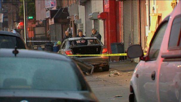 1 man found dead in burning car on NYC sidewalk