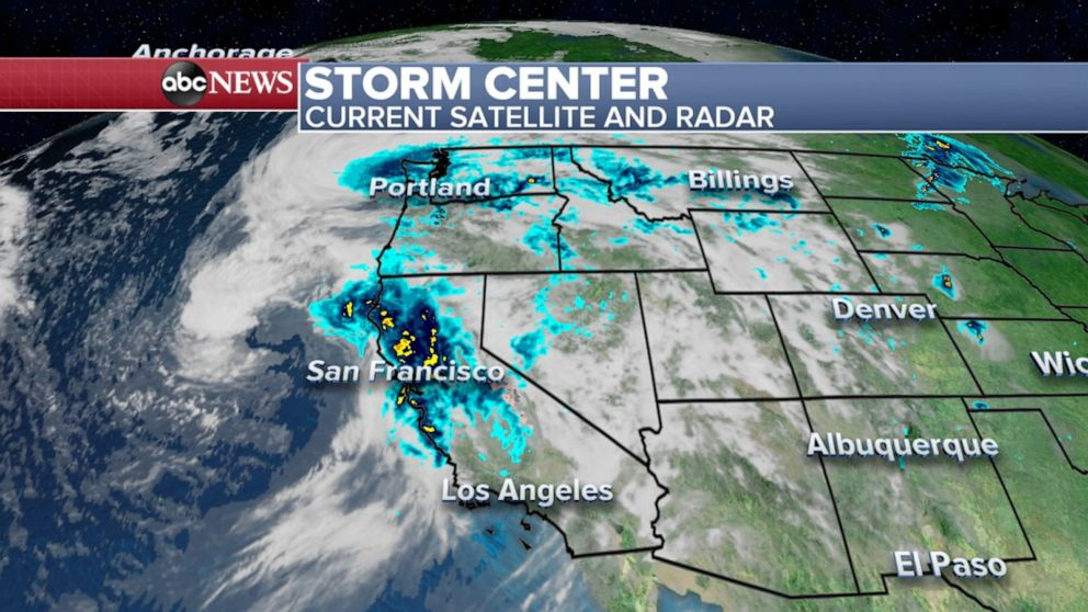 Stormy weather stretches from West Coast to Midwest - ABC News