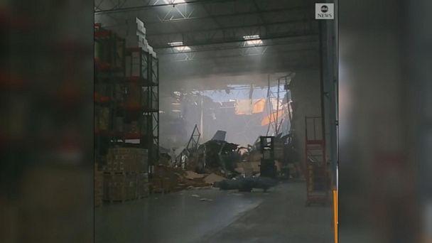F-16 crashes into California warehouse