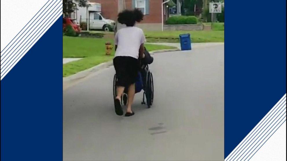 Missouri teen pushes man in wheelchair as tornado sirens wail