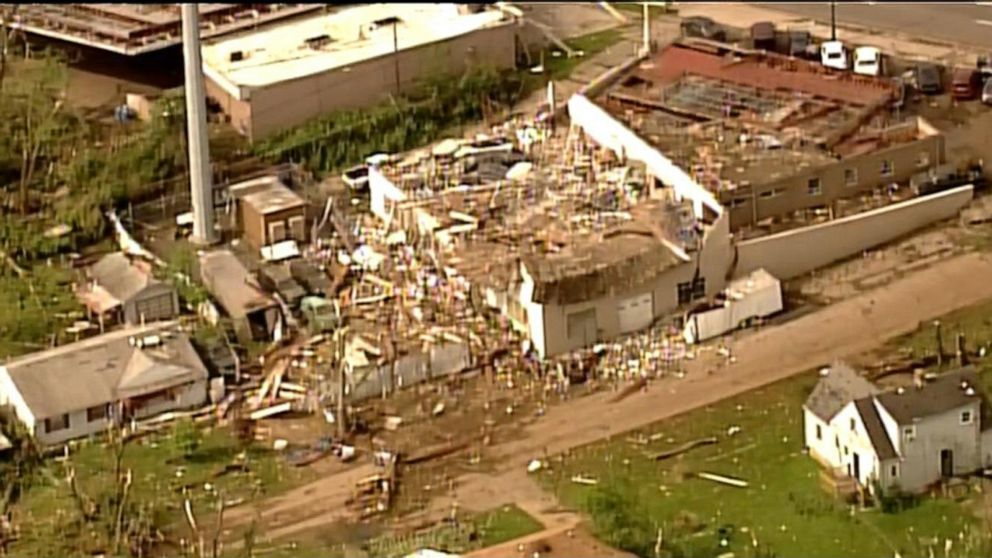 Widespread damage in Dayton, Ohio, after deadly tornadoes tear through city